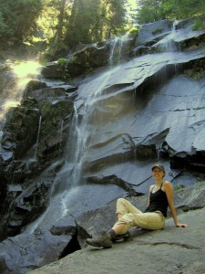 Rachel at lower bridal veil falls