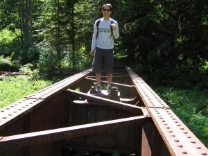robert on the railway turntable