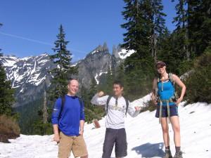 Robert, Rachel, and I up on poodle dog pass