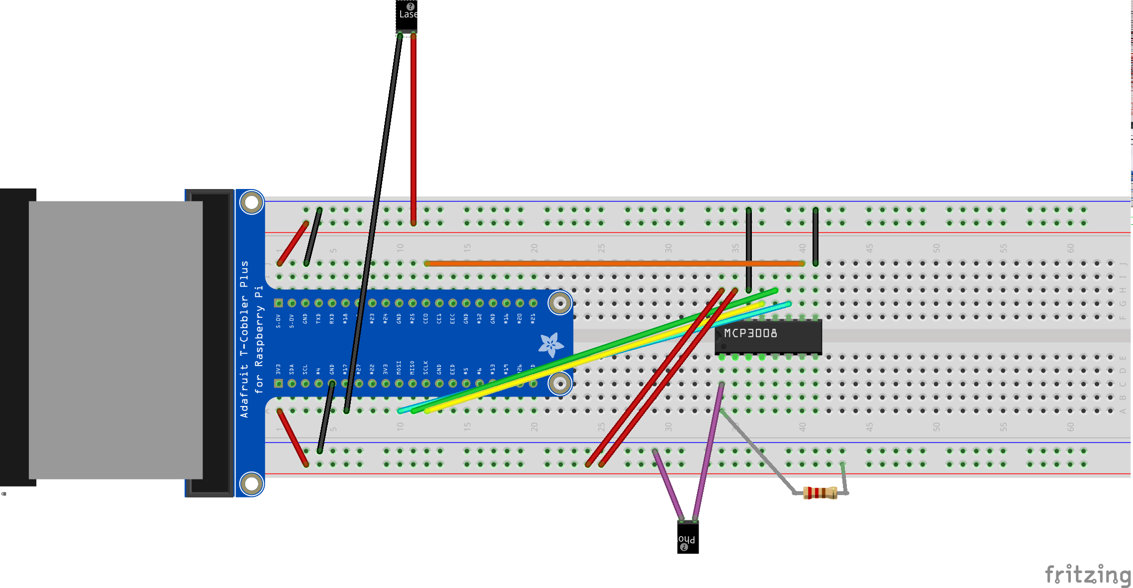 Sending And Receiving Morse Code With A Laser Raspberry Pi Led Pulse Flasher Circuit Also On Faraday Flashlight Schematic Wiring Diagram