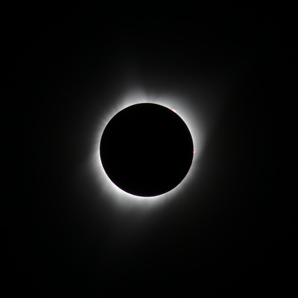 Total solar eclipse photo