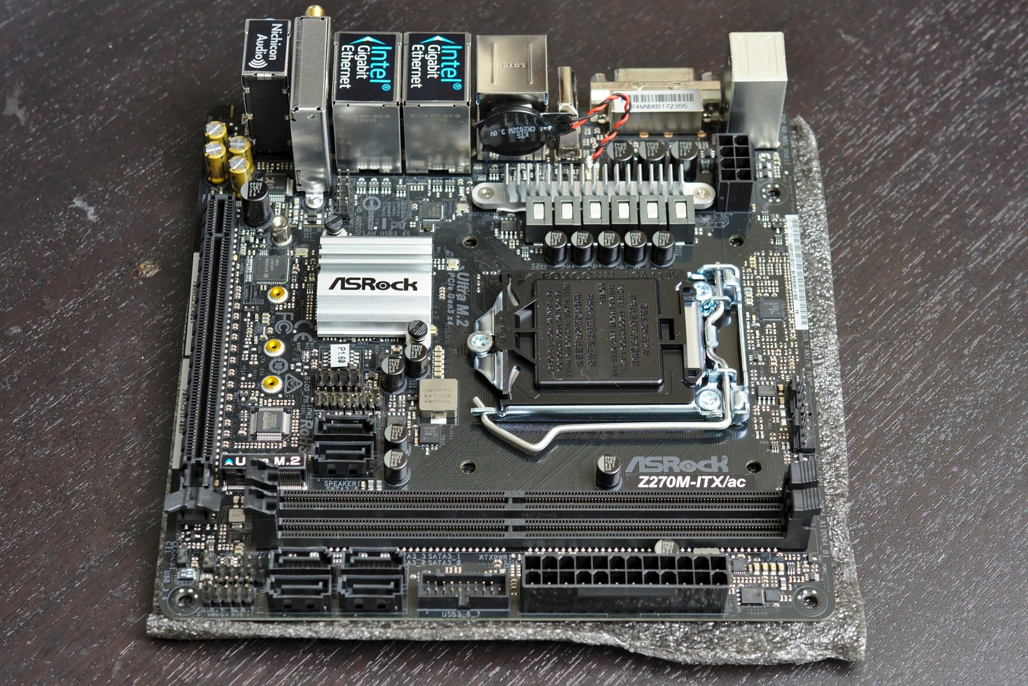 My ASRock Z270M-ITX/ac motherboard