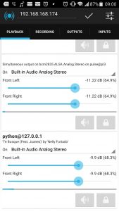 Screenshot of the Reverb android app
